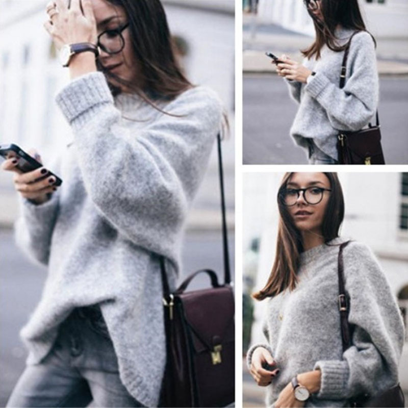 Women Autumn Sweather Long Sleeve Sweater Pullover Knit Sweater,Boycon Sweater ,Long Sleeve Sweater Knitted ,lOOSE Sweater