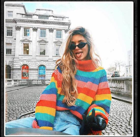 Women Autumn Sweather Long Sleeve Sweater Pullover Knit Sweater,Boycon Sweater ,Long Sleeve Sweater Knitted Winter Jumper,Colourful Jumper