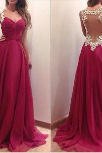 Hand Made Burgundy Prom Dresses 2018 Sexy Backless White Lace Appliqued Long Prom Gowns Sweetheart Formal Evening Gowns , Burgundy Evening Dress