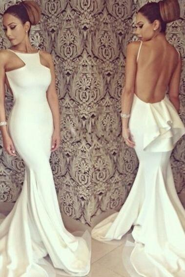 Ivory Prom Dresses,Mermaid Prom Dress,Ivory Prom Gown,Chiffon Prom Gowns,Elegant Evening Dress,Modest Evening Gowns,Sexy Party Gowns,Prom Dress
