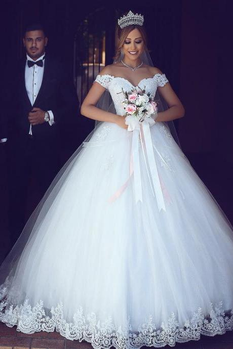 A Line Wedding Dress,Off Shoulder Wedding Dress,Cap Sleeve Wedding Dress,White Wedding Dress,Ivory Wedding Dress,Lace Wedding Dress,Elegant Wedding Dress,,Modest Wedding Dress,Princess Wedding Dress,Church Wedding Dress,Bridal Gown