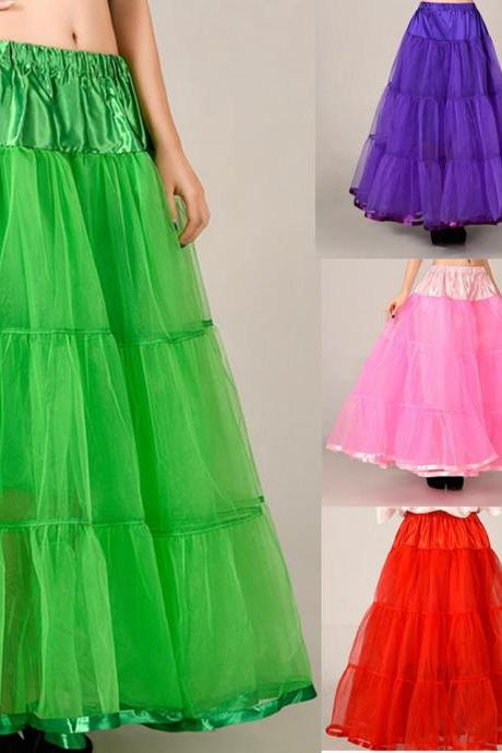 Beautiful Long Skirts Wedding Petticoat Summer Dress Long A Line Crinoline Underskirt Petticoats For Prom Dresses Tutu Skirts,2018 Beautiful Tutu Petticoate
