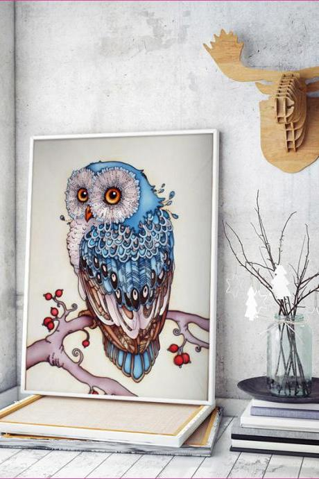 2018 New Arrival Embroidery Animal Owl 5D Diamond Painting ,Lovely Diamond Painting Cross Stitch 3D ,Beauty Painting ,Chistmas Gift , Cheap Diamond Painting ,Chineses Diamond Painting