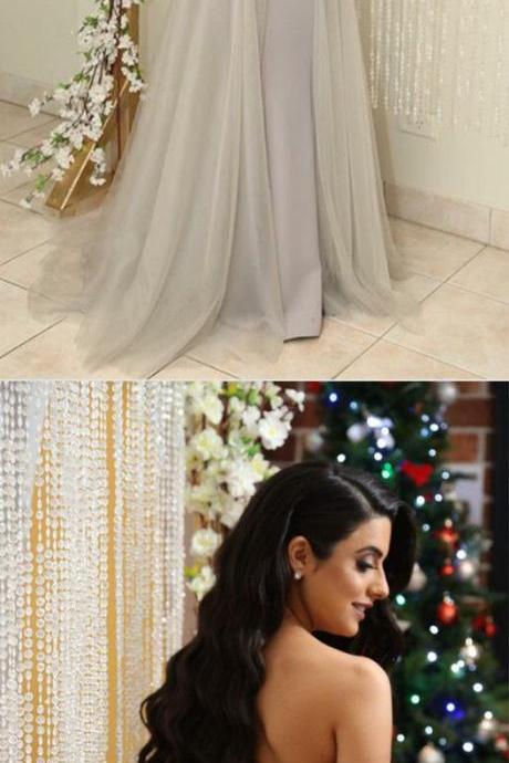 Gray Tulle Bridesmaid Dresses Long Formal Gowns Lace Appliques Sweetheart Prom Gowns,2018 Off Shoulder Women Party Dresses, Lace Bridesmaid Dresses