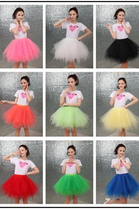 Short Petticoat Tulle Crinoline 2018 Hot Sale Underskirt For Girl Cheap Wedding Accessories, Beauty Girls Skirts ,Short Girls Skirts .Wedding Women Skirts .