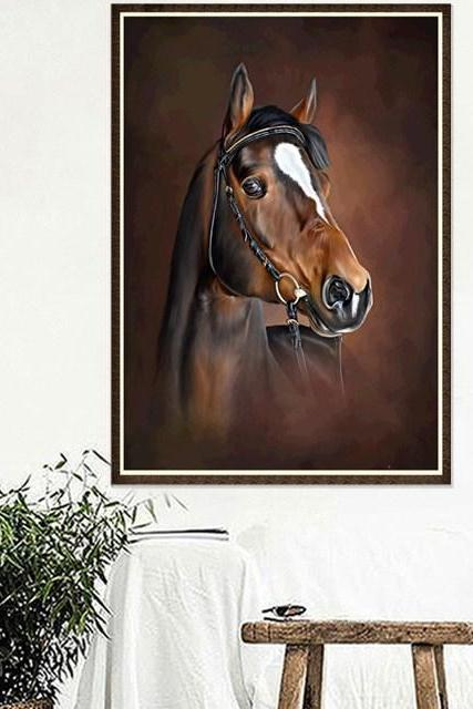 Size 30 x 40 cm 5 D Diy Diamond Painting Colorful Horse Full Rhinestones Cross Stitch 5D Mosaic Diamond Embroidery Home Decoration.Special Diamond Embroidery Paintings
