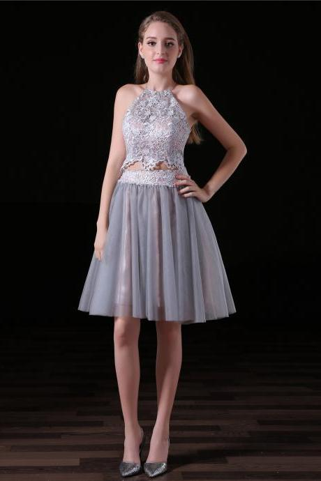 New Arrival Homecoming Dress Two Pieces , Sexy Backless Girls Prom Dress , Formal Evening Dress .