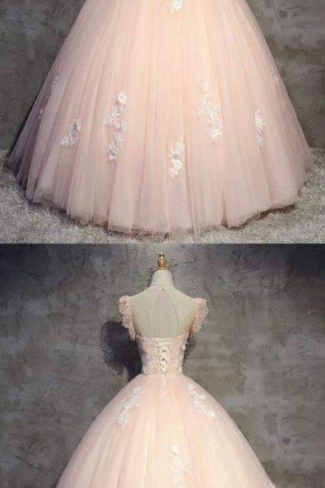 Off Shoulder Pink Tulle Ball Gown Quinceanera Dress New Arrival Women Prom Gowns ,Plus Size Formal Party Gowns