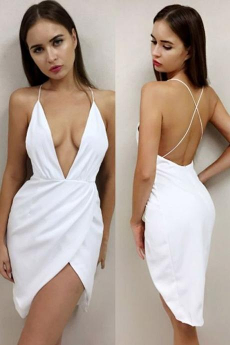New Arrival White Satin Sexy Prom Dress Short Junior 16 Party Homecoming Dress Sheath