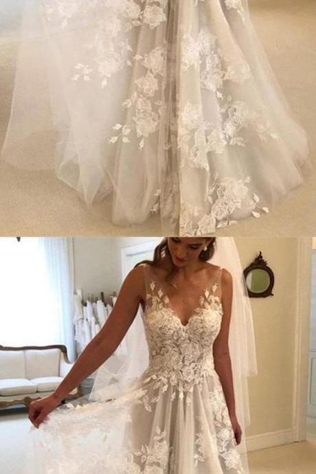 Sexy V-Neck White Lace China Wedding Dress Floor Length Women Bridal Gowns ,Off Shoulder Wedding Gowns