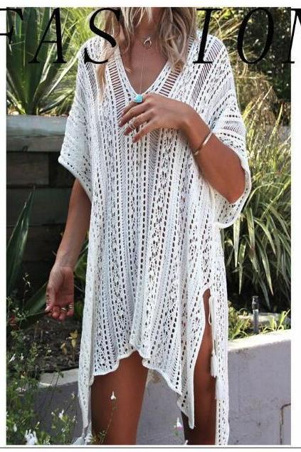 New Arrival Girls Beach Dress Cover Up Swimsuits , Swimwear White Lace Party Gowns , Summmer Swimsuits,Kigurumi Women Dress ,White Beach Dress