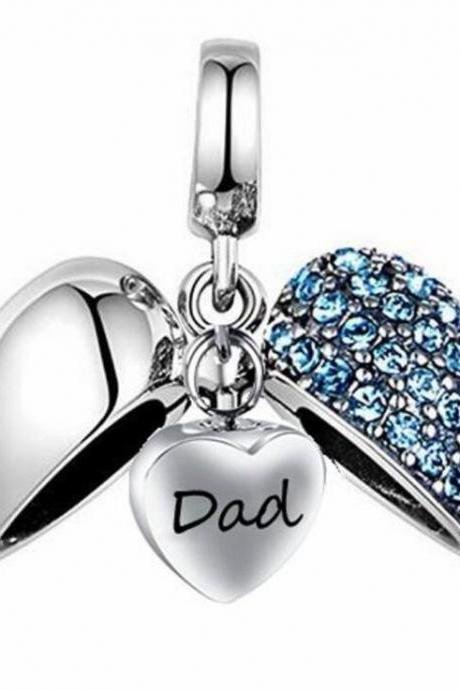Unique call heart urn funeral ashes Dad cremation necklace fashion jewelry accessorues