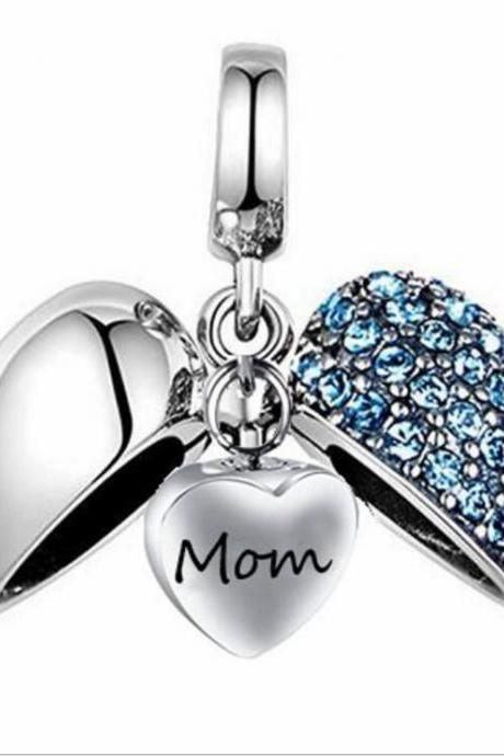 Unique call heart urn funeral ashes Mom cremation necklace fashion jewelry accessorues