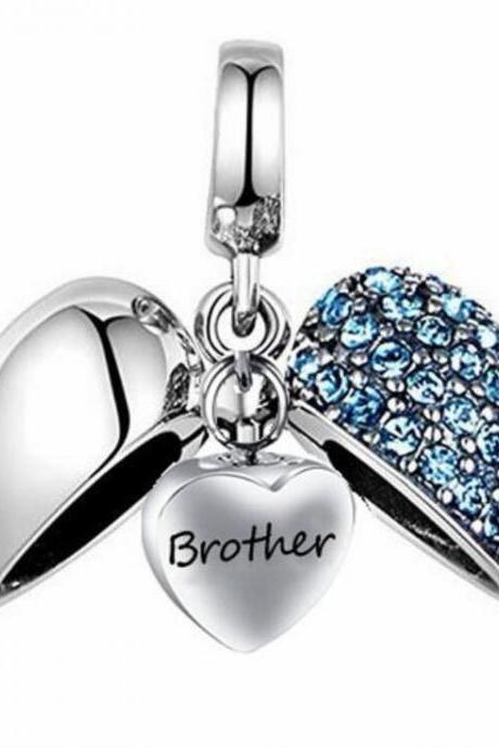Unique call heart urn funeral ashes Brother cremation necklace fashion jewelry accessorues