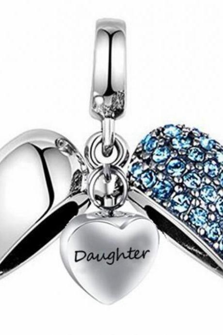 Unique call heart urn funeral ashes Daughter cremation necklace fashion jewelry accessorues