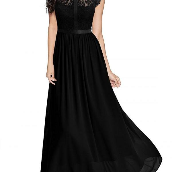Black High Neck Lace Bridesmaid Dress Plus Size A Line Ecening Party Gowns , 2018 Plus Size Maid Of Honor Dress .
